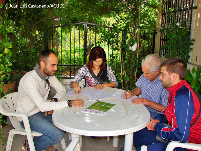 UNA FAMILIA DE ABANILLA (REGIÓN DE MURCIA) INTEGRA SUS PROPIEDADES EN ACUDE