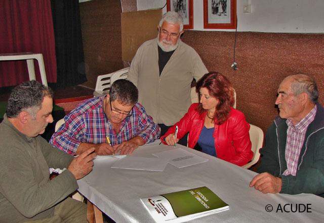 ACUDE FIRMA CONVENIOS DE COLABORACIÓN CON SOCIEDADES DE CAZADORES DE ALHAMA DE MURCIA